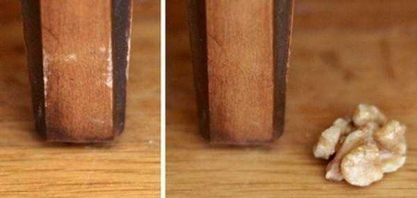 1грецкиий орех скрывает мелкие изъяны мебели